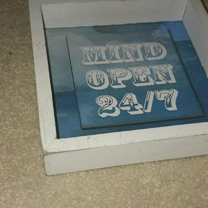 Wall Art - Nwots Mind open 24/7 wall art decor